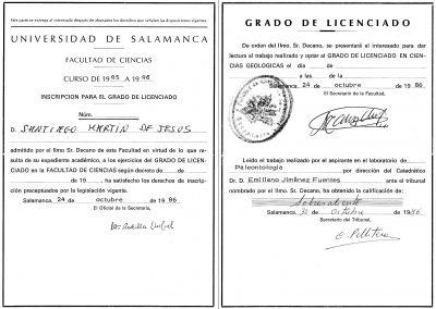 Grado de Licenciado Santiago Martín de Jesús