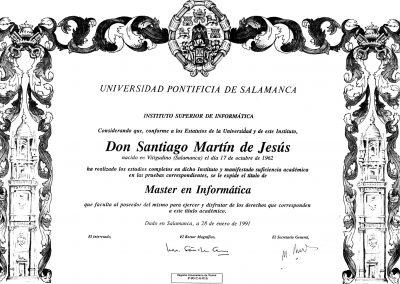 Master en Informática Santiago Martín de Jesús